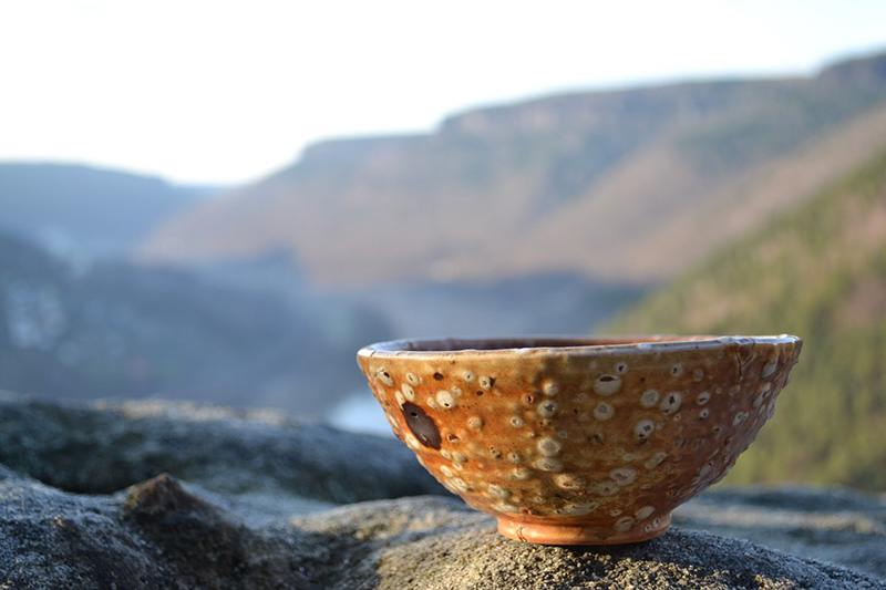 陶器と景色